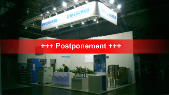 Postponement of exhibitions