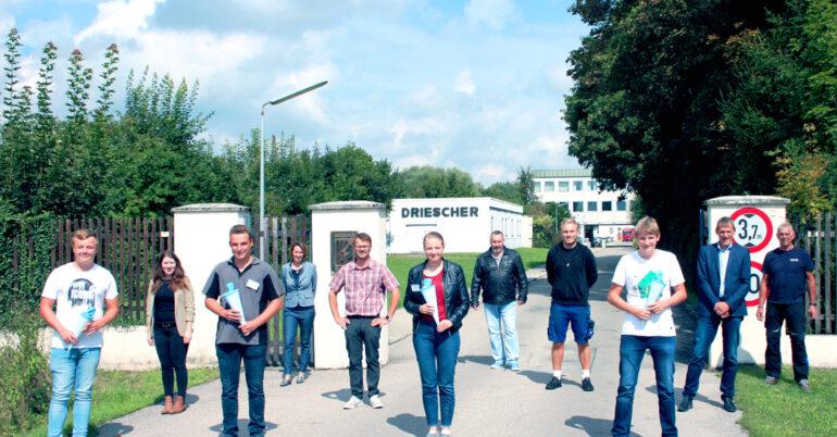 Vier neue Auszubildende bei Driescher Moosburg