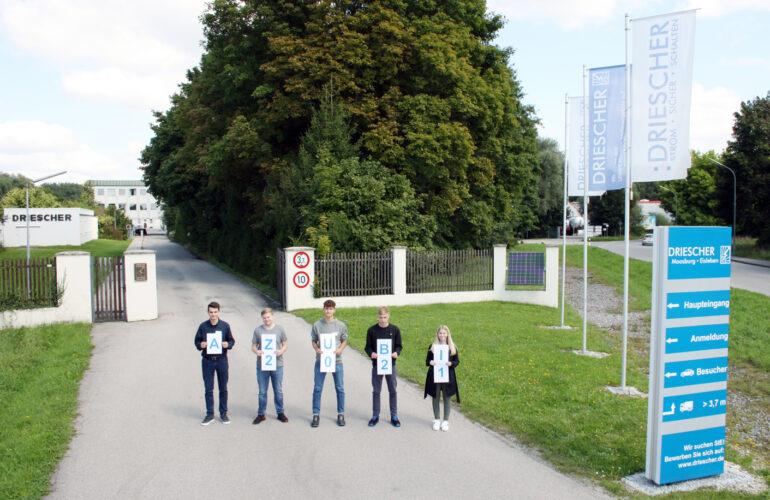 Berufsstart für fünf neue Auszubildende bei Driescher Moosburg